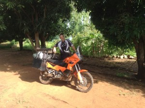 Phil, with his KTM. September 2014